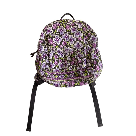 Vera Bradley purple floral quilted backpack